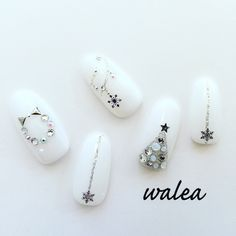 Nails Art Nol Ongles 57 Ideas in 2020 Love Nails, Fun Nails, Pretty Nails, Xmas Nails, Holiday Nails, Nail Art Noel, Manicure E Pedicure, Christmas Nail Art, White Christmas