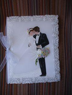 Es un bello modelo de Libro para firmas para Matrimonio , tambien puede ser para un Shower . Diy Wedding Gifts, Wedding Cards, Parchment Design, Art Deco Cards, Invitation Cards, Invitations, Altered Canvas, Parchment Cards, Anniversary Cards