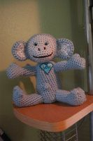 Happy Birthday Mascot Monkey (unclothed showing initials) by gooklegoo