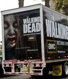 Walking Dead Truck how cool I wonder where this was? looks like it even has guts spilling out the back of it.