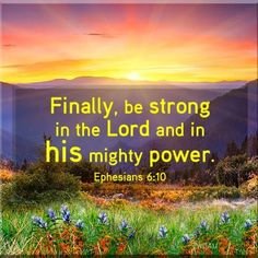 Bible Alive: Eph. 6:10 Finally, my brethren, be strong in the Lord, and in the power of his might KJV