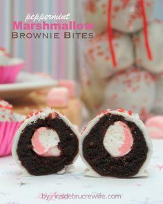 Peppermint Marshmallow Brownie Bites | Inside BruCrew Life