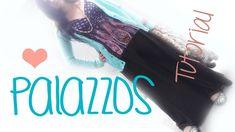♥ cómo hacer pantalones palazzo ☁ muy fácil! (+playlist)