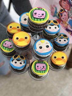 2nd Birthday Party For Girl, 1st Birthday Party Decorations, Belated Birthday, Superhero Birthday Party, Birthday Ideas, Dinosaur Cake Toppers, Cupcake Toppers, Cupcake Cakes, Themed Cupcakes