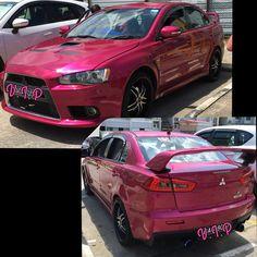 My pink Mitsubishi Lancer EX GT. My ride #mitsubishilancerex #lancerex #mitsubishi #pinknation #pinkaholic #pink