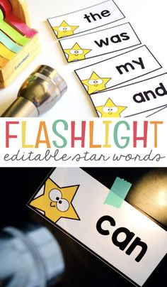 Sight words must be taught to students. Sometimes that can lead to very boring activities. I have a way for you to make sight words fun for your students. Grab these free printable and editable star sight words and a flashlight and you can have what you need for a fun learning game with your students. #flashlight #free #printables #words #sightwords #kindergarten #mrsjonescreationstation