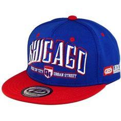 Boné Lackpard Chicago Snapback Azul Vermelho 3d44c9e5c29ff