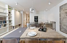 OOOOX | CORNLOFT - stainless kitchen and old wood dining table