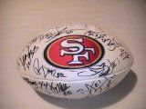 Team Signed 49ers Football