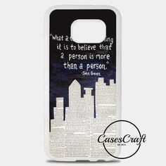 John Green Paper Towns Quotes Cover Samsung Galaxy S8 Plus Case | casescraft