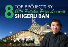 March, Top Projects by just announced 2014 #Architecture's Nobel Pritzker Prize Laureate Shigeru Ban
