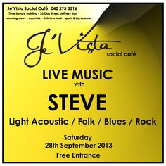 Join us for LIVE MUSIC Saturday night with Steve - light acoustics / Folk / Blues / Rock. Blues Rock, Saturday Night, Live Music, Acoustic, Entrance, Folk, Let It Be, Entryway, Popular