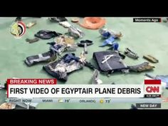 First video of EgyptAir plane debris