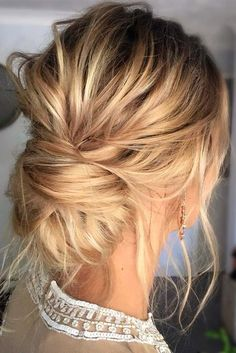 Hair/ thin hair updo, long thin hair, chignon hairstyle, hairstyle we Medium Thin Hair, Prom Hair Medium, Long Thin Hair, Medium Hair Styles, Short Hair Styles, Thin Hair Styles For Women, Thick Hair, Medium Long, Easy Wedding Guest Hairstyles