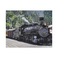 Durango & Silverton Railroad Wrapped Canvas
