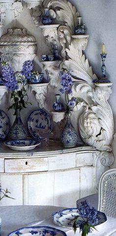 Betty Gertz's Blue & White from Veranda Magazine. | Laurel Bern Interiors