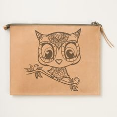 Cute illustrated Owl Travel Pouch
