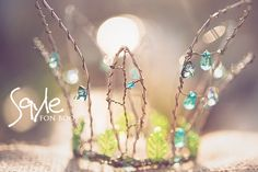 apple tree fairy crown handmade with beads and wire
