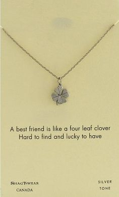 Best Friends Pendant Necklace (gifts for best friend) #clover #bestfriend #bff