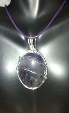 Large Amethyst wrapped in 925 Sterling Silver by GypsyNonnie, $40.00
