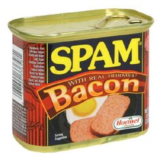 Ever wonder what would happen if something great got even better? Well, quit it. Since we've combined Spam Classic and bacon you've been thinking too much. Stop staring off into space like that and be happy. Now that Spam is flavored with bacon, happiness is everywhere, but mostly in the frying pan. US Inspected and passed by Department of Agriculture.