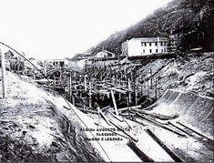 Av. Visconde de Albuquerque - Obras de abertura do Canal do Leblon  À direita vê-se o antigo Hotel Leblon Início da década de 1920 Fotografia de Augusto Malta