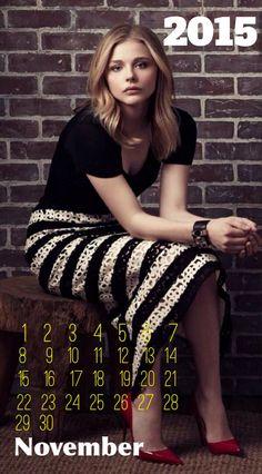 Chloë Moretz 2015 Calendar