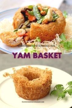 Chinese New Year Dinner: Yam Basket/Fatt Putt ? : Chinese New Year Dinner: Yam Basket/Fatt Putt ? Crispy on the outside and melt-in-the-mouth on the inside. This yam basket that is filled to the brim signifies the abundance of fortune. Chinese New Year Dishes, Chinese Food, Chinese Yam Recipe, New Years Dinner, New Year's Food, Asian Recipes, Ethnic Recipes, Yam Recipes, Singapore Food
