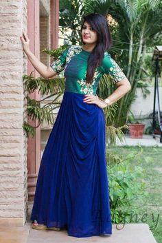 Traditional Indian Ethnic Wear, Indian Dresses, Designer Dresses, Traditional, Formal Dresses, Pattern, Dress Designs, How To Wear, Sarees