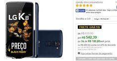 Smartphone LG K8 Dual Chip 4G Tela HD 5 Câmera 8MP  Frontal 5MP Quad Core 1.3Ghz 16GB << R$ 49900 >>