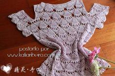 Ciganinha em Crochê Ponto Rendado - Katia Ribeiro Moda e Decoração Handmade