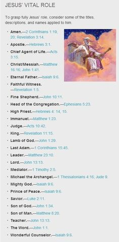 Jesus's role in Jehovah's Kingdom Government. He has never been called the Creator. Jehovah God is his father.