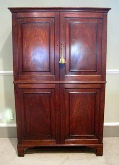 Geo III Period Mahogany Collectors Cabinet