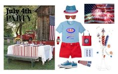 """4th of July Party"" by pinky-dee ❤ liked on Polyvore featuring My Bob, Whimsical Watches, Converse, Stance and Pier 1 Imports"