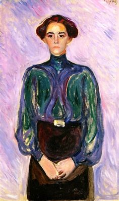 Edvard Munch - Portrait of Mrs Schwartz, 1906 (Norwegian 1863–1944)