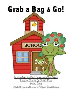 Book 4 from Grab a Bag and Go! Phonemic Awareness  Reading Should Be Child's Play, contains phonemic awareness activities only.  Each packet gives ...