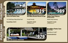 Punta Cana Vacation Specials with Air from New York