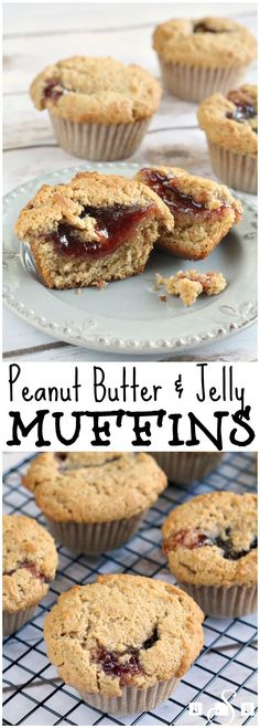 Peanut Butter & Jelly Muffins - these easy to make muffins are the perfect snack! From Butter With a Side of Bread #ad #InspiredGathering