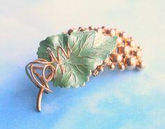 HOBE Grape Cluster Pendant Brooch Convertible Vintage Fruit Clusters Goldtone…