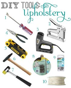 Roundup of beginner, DIY tools for upholstery.