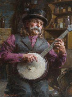 Morgan Weistling Prints | Banjo Man by Morgan Weistling