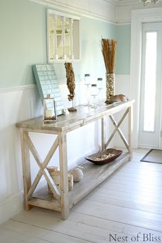 From Blog - Nest of Bliss: Love this hall table.