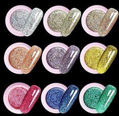 [Visit to Buy] ONE box Golden silver color Glitter UV Nail Polish Fashion Nail Decoration Nail Powder For Nail Art Tips M670 #Advertisement