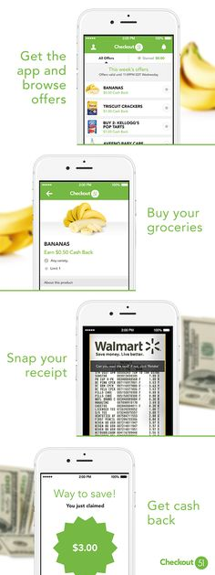 Checkout 51 gives you actual cash for groceries you actually buy every week. Simply download the app, browse the offers, upload your receipts, and get a check in the mail. Stop cutting coupons and save money by downloading Checkout 51 today!