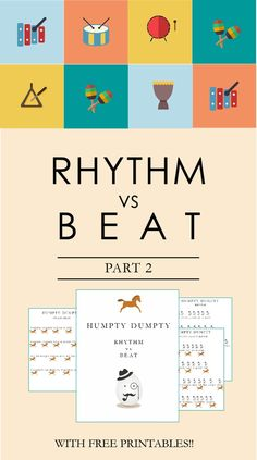 Use a classic nursery rhyme to help kids explore the difference between beat and rhythm. If you're not a musician that's okay! The post gives a step by step guide to making meaningful musical moments with your child. Click through to enjoy!