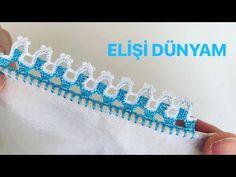 Sıralı Oya Sevdiğim Doğrudur♥️♥️ - YouTube Crochet Flower Tutorial, Crochet Flowers, Crochet Lace, Crochet Borders, Filet Crochet, Crochet Stitches, Baby Knitting Patterns, Stitch Patterns, Crochet Patterns