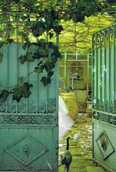 At the Avignon  home of artist Pascale Palun, Photo: Henri Del Olmo (this reminds me so much of the gate to my house in Buenos Aires)