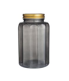 Check this out! Jar in transparent glass with metal screw-top lid. Height 6 3/4 in., diameter at base 3 3/4 in. Not for food use. - Visit hm.com to see more.