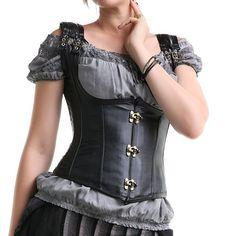 Artificial Leather Gothic Underburst Corset | Crazyinlove International
