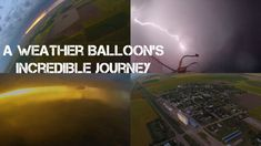 Weather Balloon With Cameras Falls To Earth Through Supercell Thunderstorm #Videography